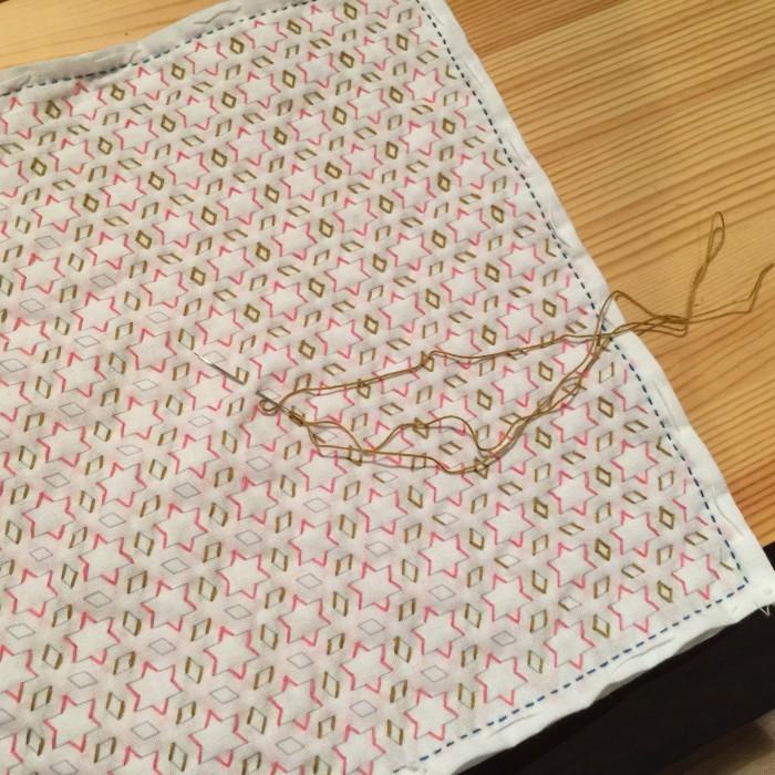 刺し子の布巾 星と三菱