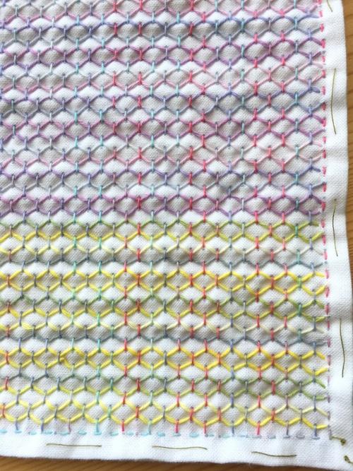 オリムパス一目刺し用ガイド付き晒布
