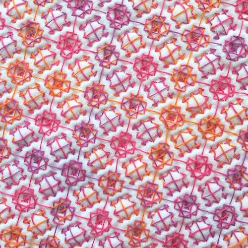 オリムパス刺し子のふきん菊の花