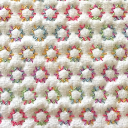 刺し子の花ふきん金平糖